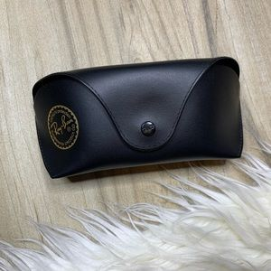 Ray Ban Black Leather Sunglass Case